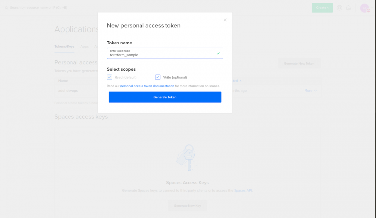 personal-access-token-digitalocean-terraform-installation