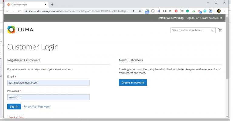 default-customer-login-page-automation-testing