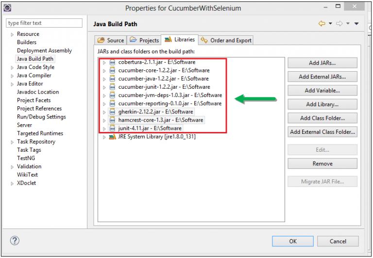 adding-jar-files-java-build-path-cucumber-with-selenium