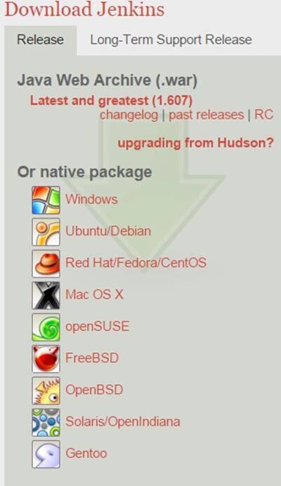chossing-jenkins-download-package