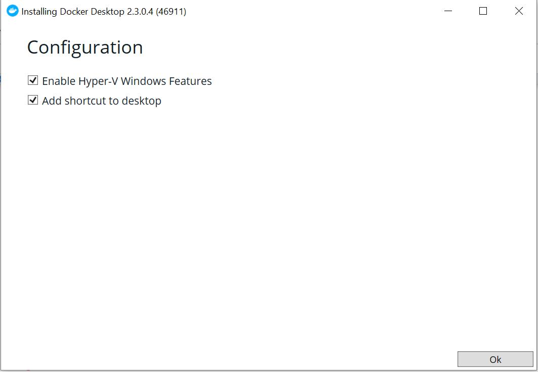 Configuration-docker-installation-on-windows